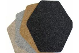 original cut antimicrobial mat shown in diamond shape, gray colorway
